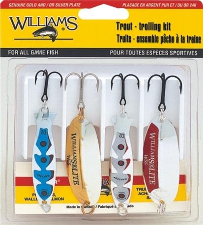 Набор блесен Williams 4TTK Trout Troukking Kit