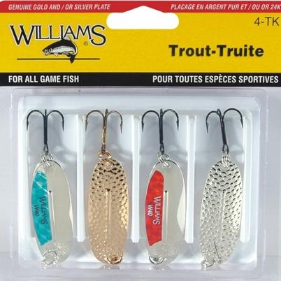 Набор блесен Williams 4-TK Trout
