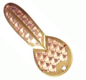 Колеблющаяся блесна Luhr Jensen LOCO 0151 Brass/Gold Prism-Lite