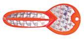 Колеблющаяся блесна Luhr Jensen LOCO 0157 Fire/Silver Prism-Lite Brass Back