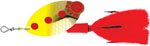 Блесна вращающаяся Mepps Lusox  Fluo Chart Red Pts 2, 16 гр