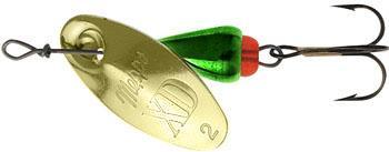 Блесна вращающаяся Mepps XD Green/Gold 2, 5 гр