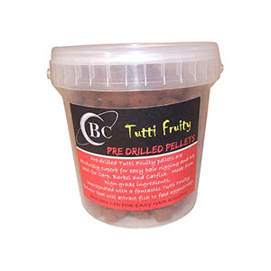 COTSWOLD BAITS Пелетс Tutti Fruity Pre Drilled Pellets 14mm, 850mll Pot CB0528