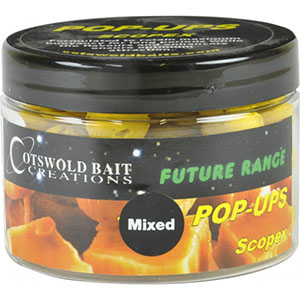 COTSWOLD BAITS  Бойли плавающие FUTURE Scopex Pop-Up Yellow 10mm, 15mm & Dumbells 150ml FB128