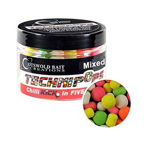 COTSWOLD BAITS  Бойли плавающие Technipops Chilli Kick 5 colours 10mm, 15mm & Dumbells 150ml CB0223