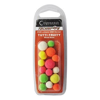 COTSWOLD BAITS  Бойли плавающие Technipops Tutti Frutti 14mm 10шт BP0001