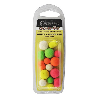 COTSWOLD BAITS  Бойли плавающие Technipops White Chocolate 14mm 10шт BP0044