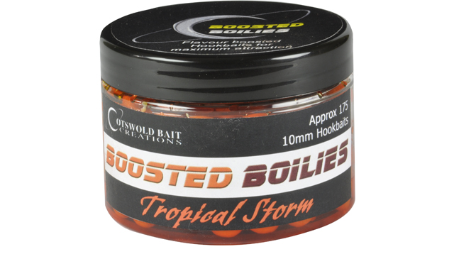 COTSWOLD BAITS  Бойли тонущие в дипе TROPICAL STORM Boosted Boilies 10mm, 150ml CB0412