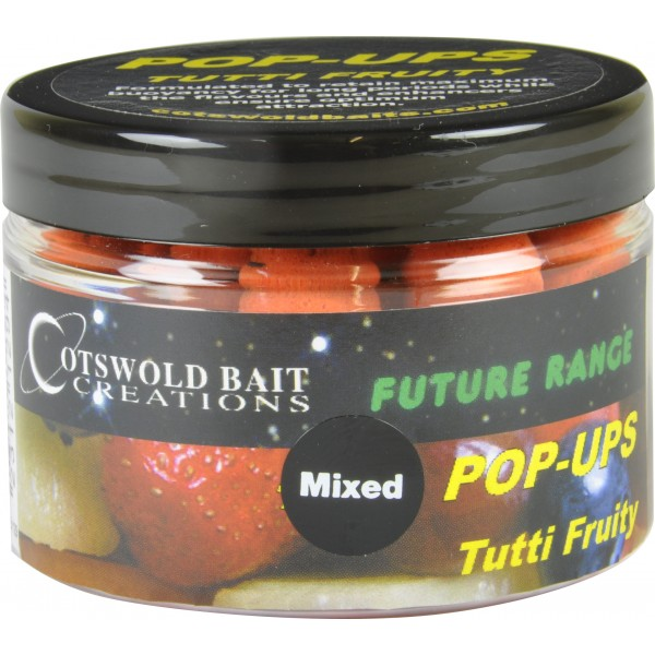 COTSWOLD BAITS  Бойли плавающие FUTURE Tutti Fruity Pop-Up Orange 10mm, 15mm & Dumbells 150ml FB129