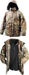 Куртка непромокаемая дышащая удлинённая с подстёжкой из флиса  DAIWA Mission JKT With Zipout Fleece - размер XL (52-54) / MJ-XL