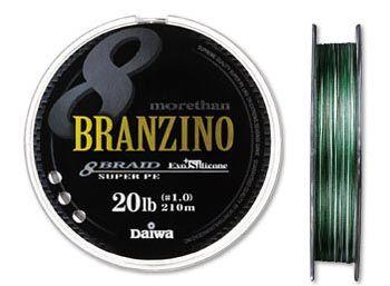 Плетеная леска DAIWA Morethan BRANZINO 8 Braid + Si / #0.8 (16LB) - 210м