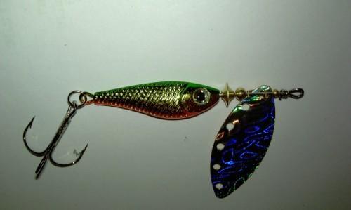 Блесна вращающаяся DAIWA Silver Creek Spinner R 1180 / Holo Green (0024)