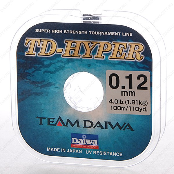 Монолеска DAIWA TD Hyper Tournament 0.12мм - 100м