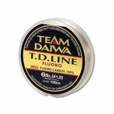 Монолеска DAIWA TD LINE FLUORO 14LB (0.325мм) - 100м (100% флуорокарбон)