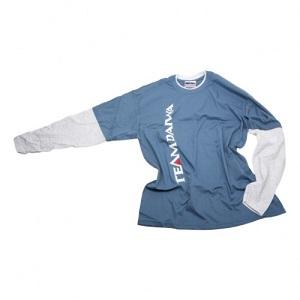 Футболка с длинным рукавом голубая с серым DAIWA TD Long Sleeve T Shirt Blue / Grey размер -  XXL / TDTBG-XXL