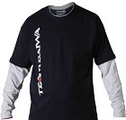 Футболка с длинным рукавом синяя с серым DAIWA TD Long Sleeve T Shirt Navy / Grey размер -  L / TDTNG-L