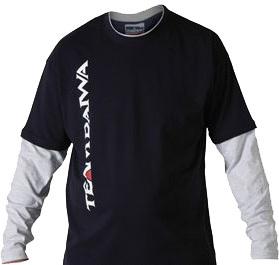 Футболка с длинным рукавом синяя с серым DAIWA TD Long Sleeve T Shirt Navy / Grey размер -  XXL / TDTNG-XXL