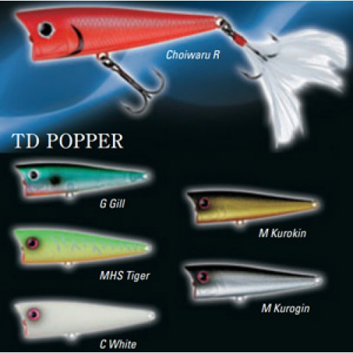 Воблер DAIWA TD Popper 1070F / Platinum Gold (9507)