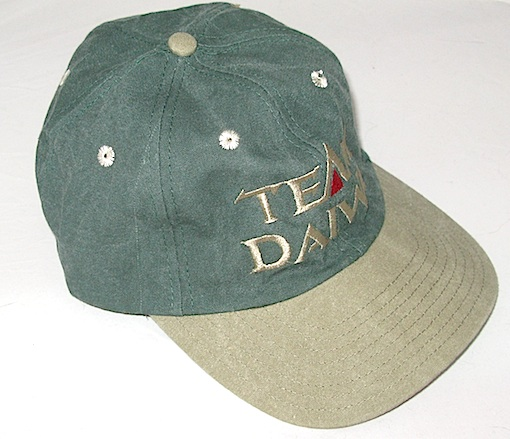 Бейсболка DAIWA Team Daiwa зеленая с серым козырьком