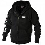 Толстовка на молнии с капюшоном чёрная DAIWA Team Zipper Hooded Top Black размер -  L / TDZHBL-L