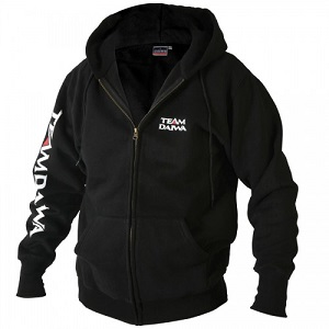 Толстовка на молнии с капюшоном чёрная DAIWA Team Zipper Hooded Top Black размер -  XXL / TDZHBL-XXL