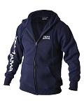 Толстовка на молнии с капюшоном синяя DAIWA Team Zipper Hooded Top Navy размер -  L / TDZHNY-L