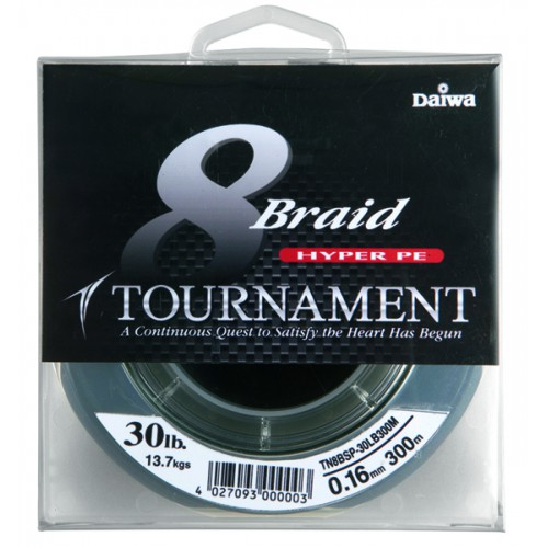Плетеная леска DAIWA Tournament 8 Braid - 15 Lb (0.10мм) - 135м (тёмно-зелёная)