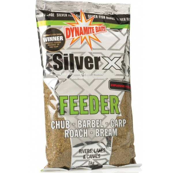 Прикормка Dynamite Baits 1 кг Silver X Feeder - Explosive