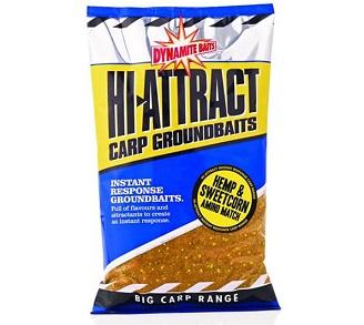 Прикормка Dynamite Baits 900 г Hi-Attract конопля/кукуруза