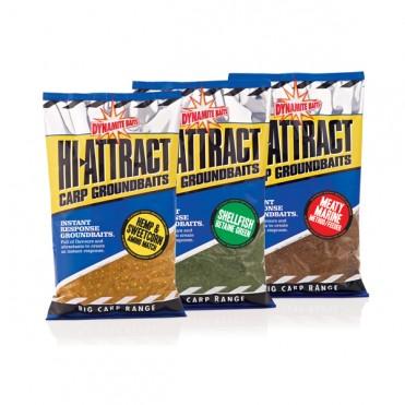 Прикормка Dynamite Baits 900 г Hi-Attract моллюск зелёная