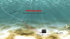 Фидерный монтаж LimanFish Симметричная петля с поводком, Кормушка LimanFish оц. 70гр
