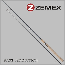Спиннинг ZEMEX BASS ADDICTION S-662M 1,98 м. 4,0-14,0 гр.