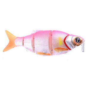 Воблер Izumi Shad Alive WITH LIP 5 section white fish 145 DD (SUSPENDING) №7