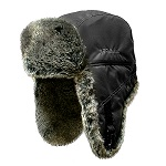 Шапка ушанка Kosadaka Arctic мех шиншилла, черный, размер XL