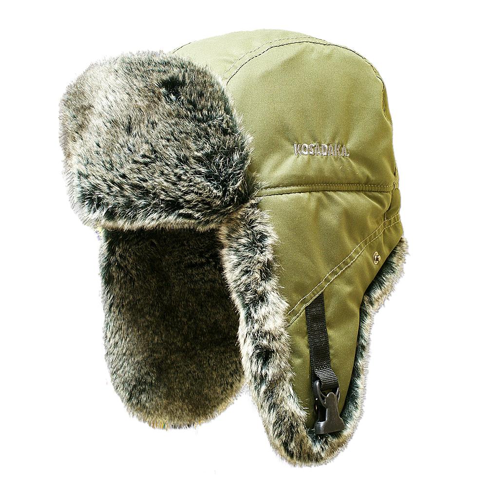 Шапка ушанка Kosadaka Arctic мех шиншилла, хаки, размер XL