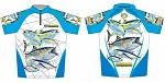 Футболка Kosadaka Бело-голубая, Sunblock, кор.рукав размер L