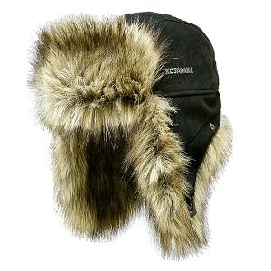 Шапка ушанка Kosadaka Extreme мех волк, черный, размер XL