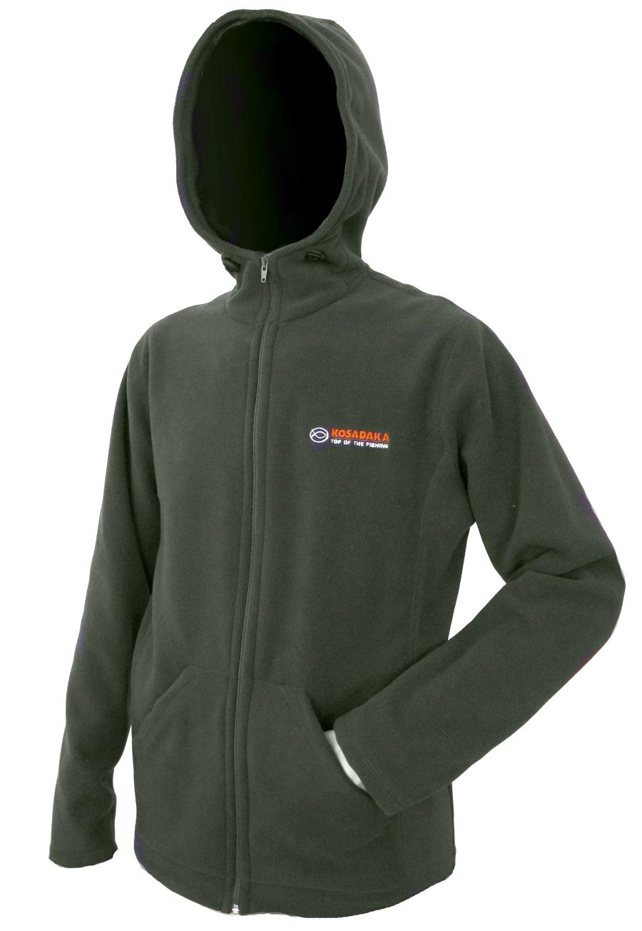 Куртка флисовая Kosadaka JF01 с капюшоном хаки L/48-50