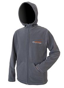 Куртка флисовая Kosadaka JF01 с капюшоном серая XL/50-52