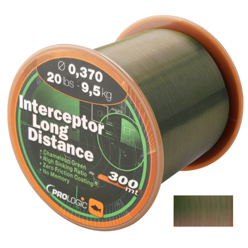 PROLOGIC  Леска Interceptor Long Distance 300m 15lbs 7.1kg 0.309mm Green 44681