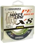 Леска плетеная Kosadaka SUPER LINE PE X8 150м light-green 0.12 mm