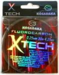 Леска флюорокарбон Kosadaka X-TECH 30 м прозрачная 0,10 мм Тест: 1,07 кг