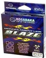 Леска Kosadaka BLAZE 100 м светло-серая 0,40 мм Тест: 12,9 кг
