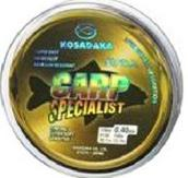 Леска Kosadaka CARP SPECIALIST 100 м коричневая 0,25 мм Тест: 6,22 кг