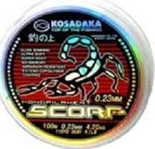 Леска Kosadaka SCORP 100 м прозрачная 0,28 мм Тест: 6,24 кг