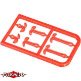 """AMC-9051-05 Фиксаторы для крепления бойлов """"Mikado"""" S/M/LS/M/L, красные (уп.-2 х 6) (AMC-9051-05)"""