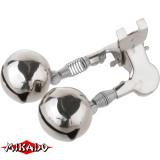 """Арт.AMR02-1197-18 Колокольчик """"Mikado"""" (двойной с металлич.зажимом)  (AMR02-1197-18)"""
