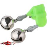 """Арт.AMR02-1199-18 Колокольчик """"Mikado"""" (двойной с пластиковым зажимом)  (AMR02-1199-18)"""