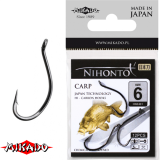 "*Арт.HN2401-6BN Крючки "" Mikado - NIHONTO - CARP №6 BN (с ушком)  (HN2401-6BN)"