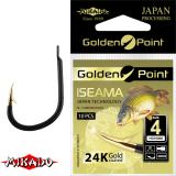 """*Крючки """" Mikado - GOLDEN POINT - ISEAMA """" (с ушком)  (HG-ISEAMA)"""